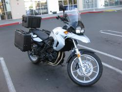 BMW F700GS side luggage