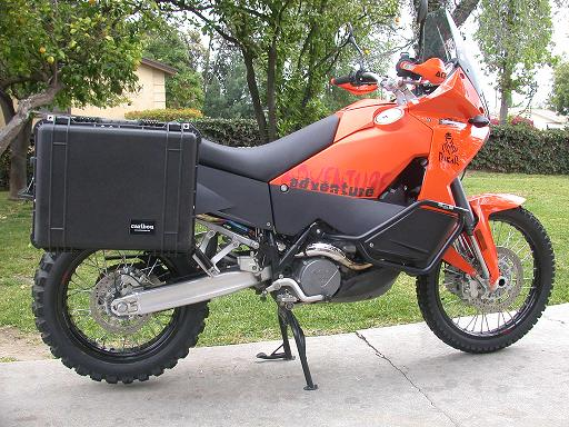 ktm 990-950 adventure 35 liter pelican side luggage panniers