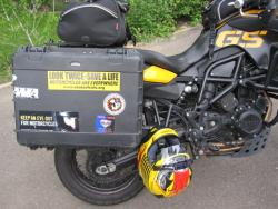 BMW F800GS side luggage